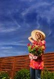 El cultivar un huerto del verano Fotografía de archivo