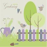 El cultivar un huerto en la primavera Imagen de archivo libre de regalías