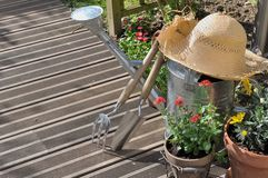 El cultivar un huerto en terraza Fotos de archivo libres de regalías