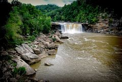 El Cumberland cae Kentucky Foto de archivo