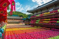 El cumpleaños de Buda en Samgwangsa Imagen de archivo
