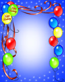 El cumpleaños hincha la invitación Foto de archivo libre de regalías
