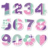 El cumpleaños lindo numera la colección ilustración del vector