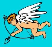 El cupido vuela Imagen de archivo libre de regalías
