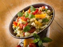Cuscús vegetariano con el queso de soja Fotos de archivo libres de regalías