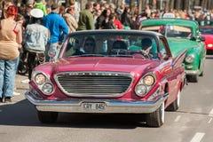 El día clásico del desfile del coche en mayo celebra la primavera en Suecia Foto de archivo
