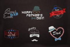 El día de Fathter - colección del diseño del papá del amor Ilustración del Vector