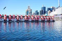 El día de fiesta de la Navidad celebró abajo debajo en verano en Sydney Fotos de archivo