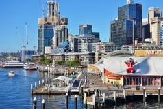 El día de fiesta de la Navidad celebró abajo debajo en verano en Sydney Fotografía de archivo libre de regalías