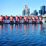 El día de fiesta de la Navidad celebró abajo debajo en verano en Sydney Imagenes de archivo
