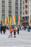 El día de fiesta en Moscú Imagen de archivo