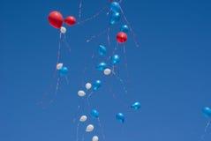 El día de fiesta hincha el vuelo al cielo Foto de archivo