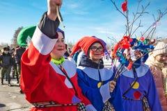 El día de fiesta de Maslenitsa Siberia occidental imágenes de archivo libres de regalías