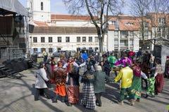 El día de fiesta y dedicado favorablemente a la primavera Imagen de archivo