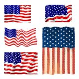 El Día de la Independencia los E.E.U.U. señala el ejemplo americano del vector por medio de una bandera del emblema nacional de l Imagen de archivo