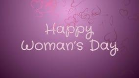 El día de la mujer feliz de la animación, tarjeta de felicitación