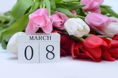 El día de las mujeres, el 8 de marzo Fotografía de archivo libre de regalías