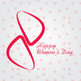 El día de las mujeres internacionales el 8 de marzo, tarjeta o fondo de felicitación del día de las mujeres felices Fotografía de archivo libre de regalías