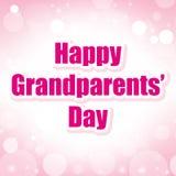 El día de los abuelos felices Imagen de archivo