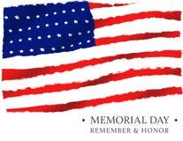 El D?a de los ca?dos de la bandera americana recuerda y honra stock de ilustración