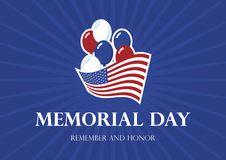 El Día de los caídos recuerda y honra vector ilustración del vector