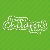 El día de los niños Fotografía de archivo libre de regalías