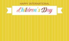 El día de los niños con estilo amarillo del fondo