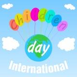 El día de los niños internacionales del cartel primer de junio Ilustraci?n del vector fotografía de archivo