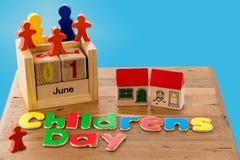 El día de los niños internacionales el 1 de junio Fotografía de archivo libre de regalías