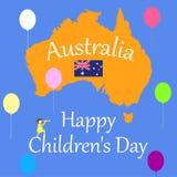 El día de los niños s es primer de junio en Australia Ejemplo del vector o el día de fiesta imagenes de archivo