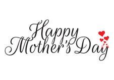 El día de madre feliz, Rose Illustration, redactando diseño stock de ilustración