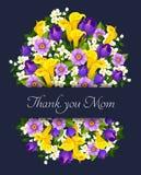 El día de madres del vector florece la tarjeta de felicitación Fotos de archivo libres de regalías