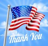 El día de Memorial Day o de veteranos le agradece bandera americana Imágenes de archivo libres de regalías