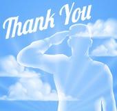 El día de Memorial Day o de veteranos le agradece diseñar Fotografía de archivo libre de regalías