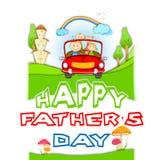 El día de padre feliz Fotografía de archivo libre de regalías