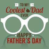 El día de padre feliz Foto de archivo libre de regalías