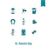 El día de Patricks del santo aisló el sistema del icono Fotografía de archivo