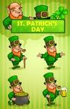 El día de St Patrick de los Leprechauns Foto de archivo libre de regalías