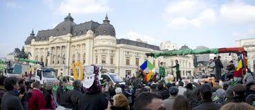 El día de San Patricio en Bucarest 2 Foto de archivo libre de regalías