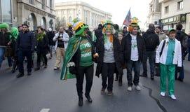 El día de San Patricio en Bucarest 7 Fotos de archivo