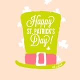 El día de St Patrick - sombrero de copa del duende Fotografía de archivo libre de regalías