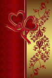 El día de tarjeta del día de San Valentín Imagen de archivo libre de regalías