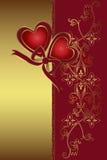 El día de tarjeta del día de San Valentín Fotos de archivo