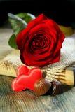 El día de tarjeta del día de San Valentín. Fotos de archivo libres de regalías