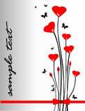 El día de tarjeta del día de San Valentín Fotografía de archivo libre de regalías