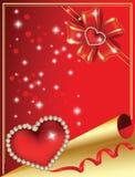 El día de tarjeta del día de San Valentín Imagenes de archivo