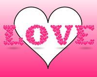 El día de tarjeta del día de San Valentín Foto de archivo libre de regalías