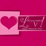 ¡El día de tarjeta del día de San Valentín! Imagenes de archivo
