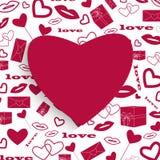 El día de tarjeta del día de San Valentín abstracto del diseño Imagen de archivo libre de regalías