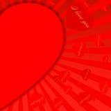 El día de tarjeta del día de San Valentín background-11 rojo Fotografía de archivo